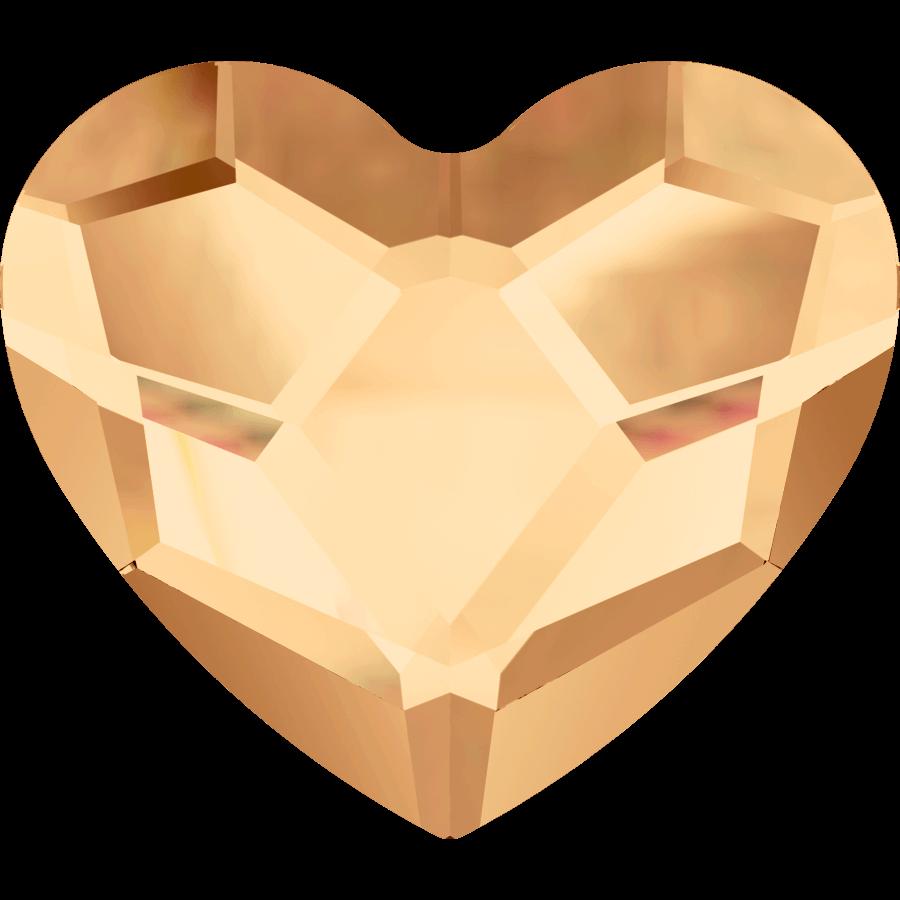 Heart Golden Shadow 6 mm